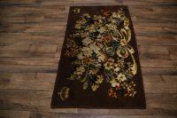 Floral Rya Sweden Oriental Wool Rug 3x5