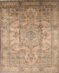 Antique-Washed Color Tabriz Persian Area Rug 9x12