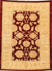 All-Over Floral Sarouk Persian Area Rug 6x9
