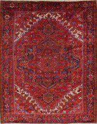 Geometric Heriz Persian Area Rug 10x13