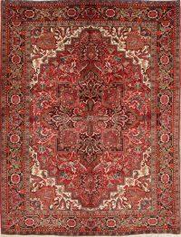Geometric Heriz Persian Area Rug 7x9