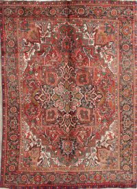 Geometric Heriz Persian Area Rug 7x9