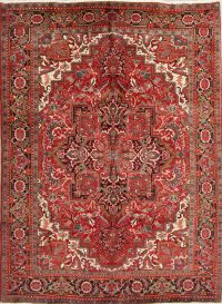 Geometric Heriz Persian Area Rug 7x10