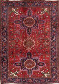 Geometric Heriz Persian Area Rug 7x10
