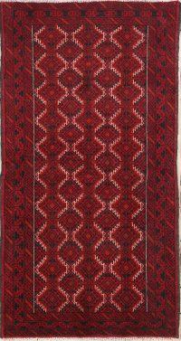 Geometric Balouch Bokhara Persian Runner Rug 3x6