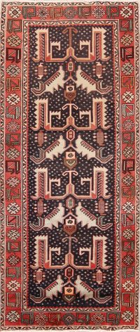 Geometric Wool Bakhtiari Persian Area Rug 4x10
