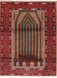 Geometric Turkoman Bokhara Persian Square Rug 3x3
