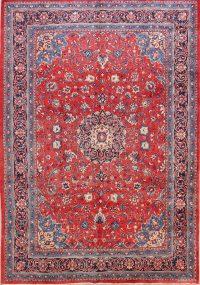 Floral Sarouk Persian Medallion Area Rug 9x12