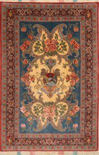 Vegetable Dye Pictorial Senneh Persian Area Rug 7x10