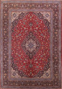Floral Red Kashan Persian Area Rug 10x14