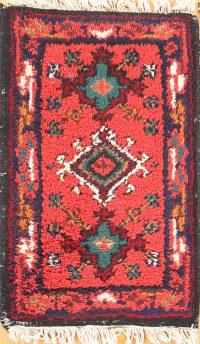 Geometric Heriz Oriental Wool Rug 1x2
