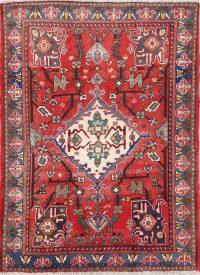 Geometric Bakhtiari Persian Area Rug 5x7