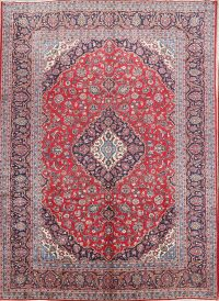Traditional Kashan Persian Area Rug 9x13