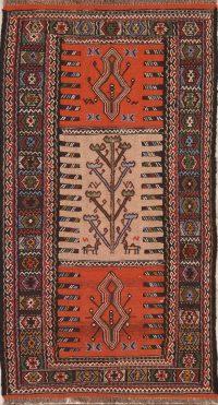 Geometric Kilim Shiraz Persian Area Rug 3x6