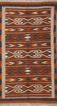 Geometric Kilim Persian Runner Rug 3x6