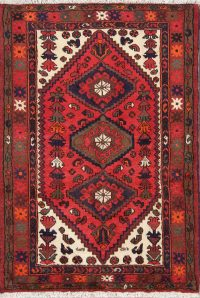 Geometric Hamedan Persian Tribal Area Rug 3x5