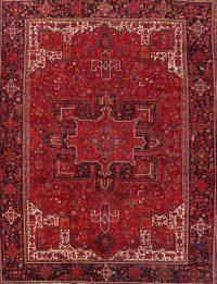 Geometric Wool Heriz Persian Area Rug 10x14