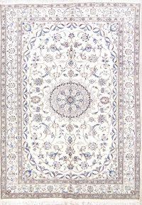 Floral Ivory Nain Persian Area Rug 7x10