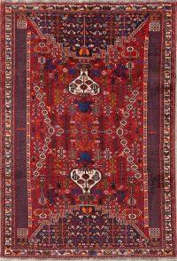 Geometric Tribal Kashkoli Shiraz Persian Area Rug 7x9