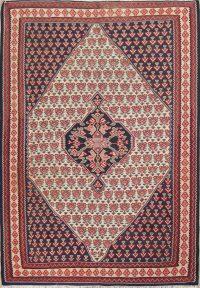 Geometric Senneh Kilim Persian Area Rug 4x5