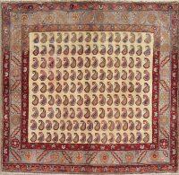 Geometric Hamedan Persian Square Rug 4x4