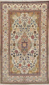 Floral Tabriz Persian Area Rug 4x7