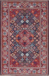 Geometic Najafabad Persian Area Rug 5x7