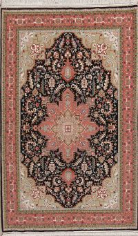 Geometric Tabriz Persian Area Rug 5x7