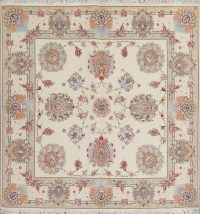 Floral Tabriz Persian Square Rug 7x7