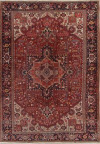 Atique Geometric Heriz Persian Area Rug 10x13
