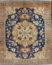 Geometric Heriz Persian Area Rug 14x15