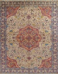 Pictorial Khoy Persian Area Rug 13x17