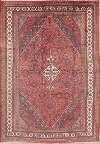 Geometric Hamedan Persian Area Rug 7x9