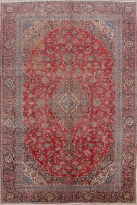 Floral Kashan Persian Area Rug 10x13