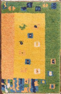 Tribal Gabbeh Oriental Wool Rug 1x2