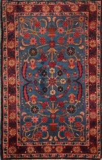 All-Over Design Floral Yazd Persian Area Rug 2x4