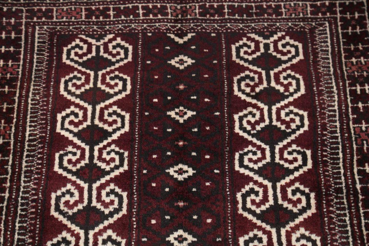 Geometric Balouch Bokhara Persian Area Rug 3x4