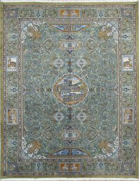 Floral Kashmar Pictorial Persian Area Rug 10x13