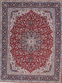 Soft Pile Floral Kashan Persian Style Area Rug 10x12