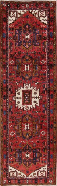 Geometric Tribal Heriz Persian Runner Rug 3x11