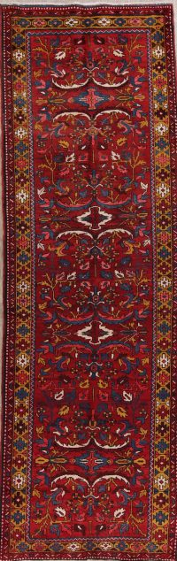 All-Over Heriz Serapi Persian Runner Rug 4x11