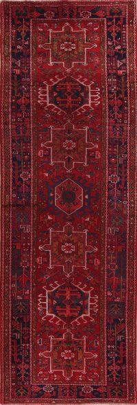 Geometric Gharajeh Persian Runner Rug 4x11