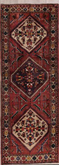 Tribal Geometric Heriz Persian Runner Rug 4x10