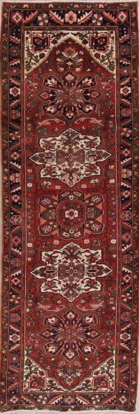 Floral Heriz Persian Runner Rug 4x11