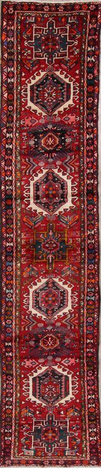 Geometric Gharajeh Persian Runner Rug 3x13