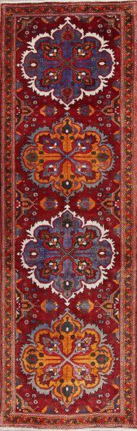 Geometric Heriz Persian Runner Rug 4x11