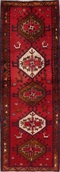 Tribal Geometric Goravan Persian Runner Rug 3x9