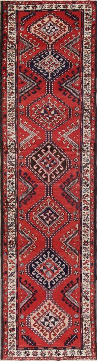 Red Geometric Sarab Persian Runner Rug 3x12