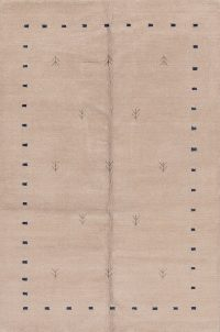 Contemporary Gabbeh Indian Oriental Area Rug 5x8