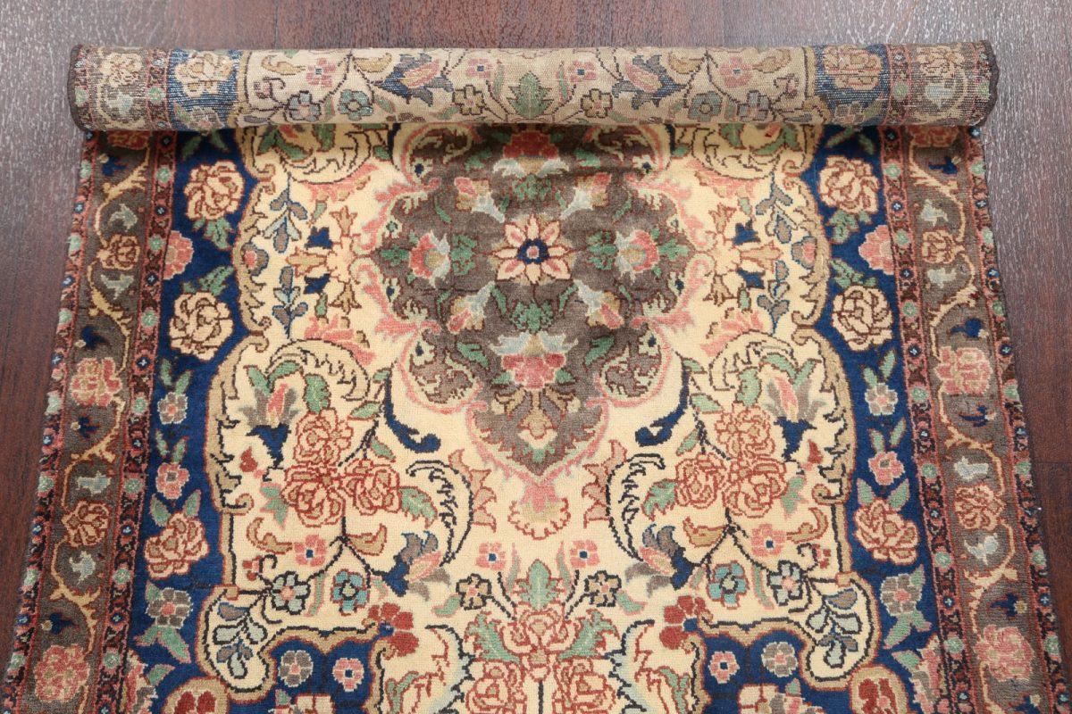 Floral Ivory Hamedan Persian Area Rug 3x5